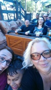 The gang riding Big Thunder Mountain.