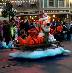 Tigger in the Christmas Fantasy Parade