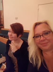 I could have my answer sooner if I had looked at my FB account as I had posted this picture while at church on Christmas eve. However, I don't remember taking the picture, let alone posting it.
