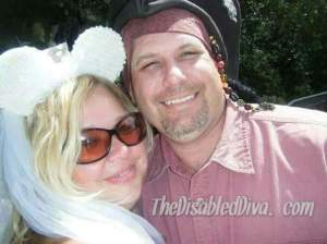 This pic is of us celebrating our 10th anniversary at Disneyland.