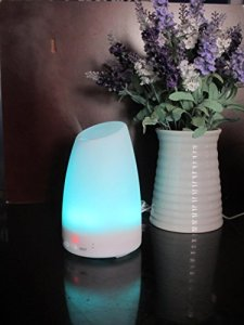 Connetech(TM) 120ml Ultrasonic Aroma Diffuser Essential Oil Air Huminidifier with 7 Colors Changing LED Night Light Lamp for Office, Bedroom, Living Room