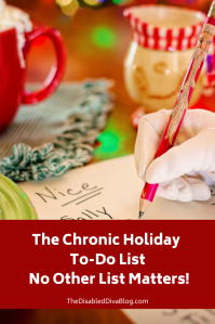 The Chronic Holiday to do list