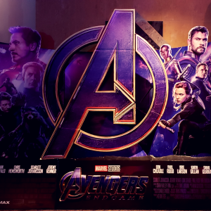 avengers endgame poster from movie theater