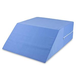 DMI Ortho Bed Wedge Elevated Leg Pillow, Supportive Foam Wedge Pillow for Elevating Legs, Improved Circulation, Reducing Back Pain and More, Blue by MABIS DMI Healthcare
