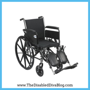 """Drive Medical Cruiser III Light Weight Wheelchair with Various Flip Back Arm Styles and Front Rigging Options, Black, 20"""""""