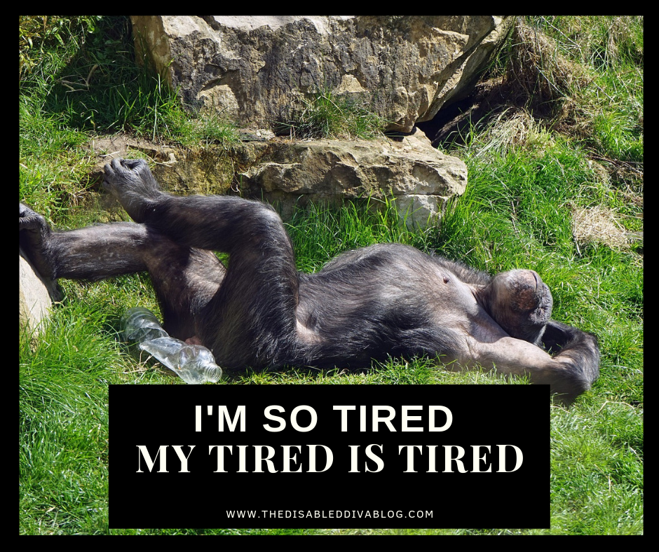 I'm so tired, my tired is tired!   The Disabled Diva's Blog