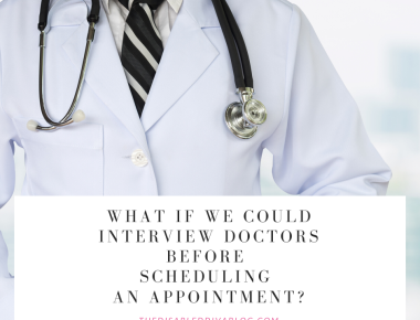 What if we could interview doctors before scheduling an appointment