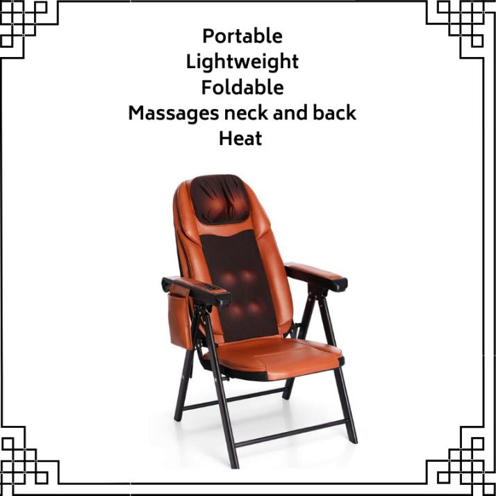 Folding Shiatsu Massage Chair with Heat